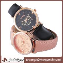 Мода женские часы сплава часы с кожаным ремешком