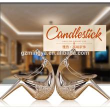 Resina romántica decoración de interiores decorativo estatua casa decoración titular de la vela de resina