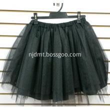 Plain Black Short Skirt