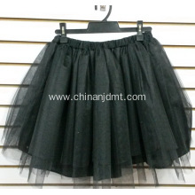 Plain Black Short Skirt