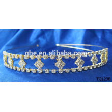 New fashion wholesale rhinestone tiara round crowns for pageants