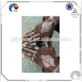 Flash ouro prata metálica temporária tatuagens etiqueta tatuagem de henna (venda quente)