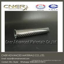 Tubo redondo de fibra de carbono / tubo por rollo envuelto 30 * 27 * 145 mm