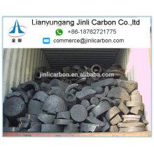 déchets d'électrode de graphite de grande taille / grande électrode utilisée de graphite / grains d'électrode écrasés
