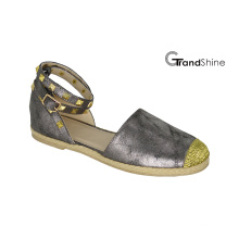 Women′s Comfort Ankle Strap Espadrille Flat Sandal