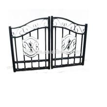 Allée coulissante de haute qualité décorative ornementale Porte en fer forgé