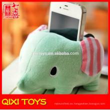 sostenedor suave suave lindo del teléfono móvil del elefante de la célula de felpa