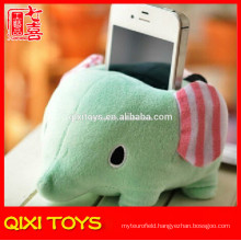 soft cute plush cell elephant mobile phone holder