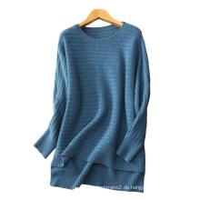 Frauen dicke lose Winterpullover Pullover O Hals Raglan-Ärmel lässig Design übergroße reine Kaschmir-Pullover