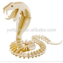 puzzle en bois animal de serpent pas cher 3D
