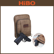 TOURBON Brown PU men's cross-body concealed carry holster inside purse bag