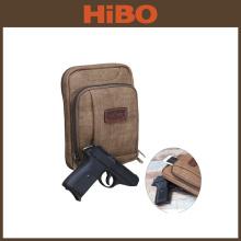 TOURBON коричневый PU мужская креста тела скрытого ношения кобура внутри сумка кошелек