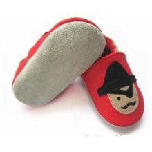 Оптовые детские мягкие подошвы из натуральной кожи prewalk crib shoes