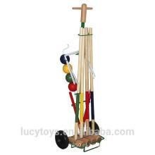 Personalizado de venta caliente croquet de madera conjunto