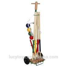 Customized hot selling wooden croquet set