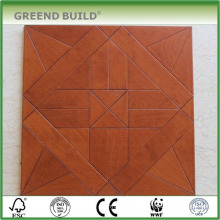 Birch prefab house old parquet flooring