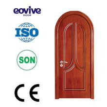 Diseño de sólida puerta de madera venta caliente
