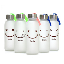 2016 New Design Frosted Glas Wasserflasche