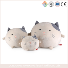 YK ICTI small size china manufacturer stuffed plush cat ball stuffed toy