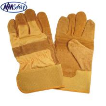 NMSAFETY Brown Rindspaltleder Sicherheitsarbeit Hand Handschuh