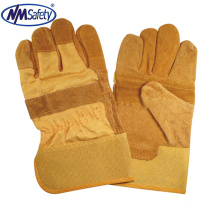 NMSAFETY Brown cow split leather safety work hand glove