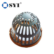 Roof drain with aluminum strainer and cast iron body