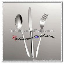 Platos y cubiertos elegantes del acero inoxidable del hotel de alta calidad T261