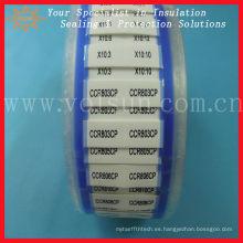 Impresión blanca del tubo termocontraíble