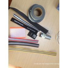 Reflektierende Kleidung Stoff mit hohen silbernen Klebeband Gurtband