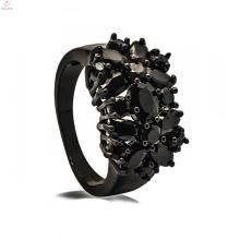 Conjunto nupcial da jóia bonita de cobre preta para mulheres