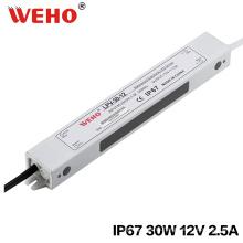 30 Вт 12 В 24 В Водонепроницаемый IP67 светодиодный источник питания