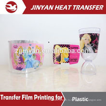 heat transfer printing film for plastic cans