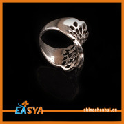 New Crystal Cut Out Flower Silver Ring Cheap