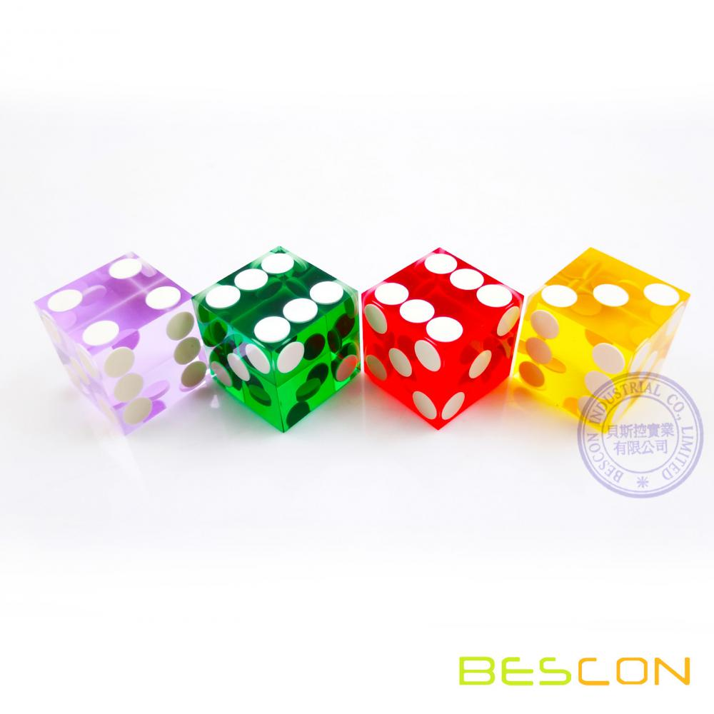 High Quality Professional Precision Square Casino Style Dice 19MM with Razor Sharp Edge