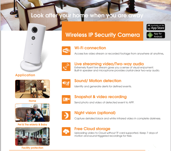ip camera wireless ECP01