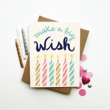 Extravagante Offsetdruck-kundenspezifische Geschenk-Papier-Geburtstags-Karte