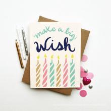 Fancy Offset Printing Custom Gift Paper Tarjeta de cumpleaños