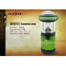 Lanterna de acampamento portátil de LED ao ar livre lanterna de acampamento de 500 lúmen alumínio LED 4x 1.5V AA