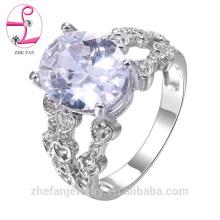 anillo de diamante profesional de fábrica de joyas anillo de oro rosa 18k de oro blanco al por mayor 18k
