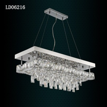Led Square Chandelier Pencahayaan Modern Crystal Chandelier Pendant Lamp