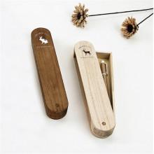 boîte à crayons design en bois fantaisie rotatif