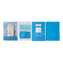 Kit de paquete de cortinas quirúrgicas estériles desechables para parto