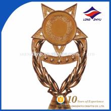 Nuevo trofeo plástico de la forma de la estrella de la llegada para el recuerdo de la compañía