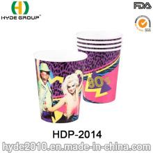 Tasse de papier jetables eau simple paroi (HDP-2014)
