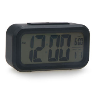 large LCD display clock with snooze light and loud alarm