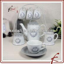 Keramik-Kaffeekanne Zuckertopf Milchkanne
