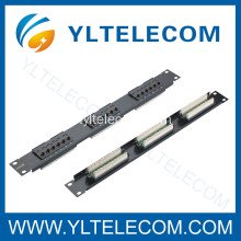 1U 19 pouces 18port type de Patch Panel Cat5e et Cat6
