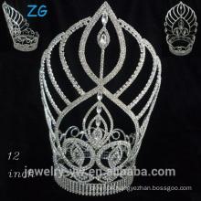 Fashion A level crystal pageant tiara alloy tiara