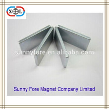 L20W8H3 flat magnets neodymium with zinc coating