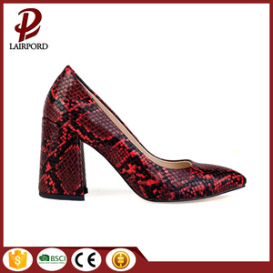 red serpentine printed hot sale women shoes